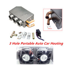 Metal 80W 3 Hole Portable Auto Car Heating Cooling Defroster Demister Universal