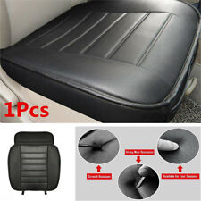 1x Black Leather Car Front Seat Cover Protector Cushion For Interior Accessories