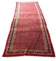 """Old Hand Knotted wool rug ,Mir 1243 4'3""""x11'3"""""""
