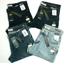 Men's Lee Modern Series Regular Fit Tapered Leg 4-Way Stretch Blue Colors Jeans