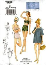 Vogue Sewing Pattern V9255 9255 Vintage Misses Bra Shorts Cover-up Size 14-22