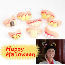 Prank Startle Tooth Halloween Scary Crooked Monster Teeth Novelty V1NF