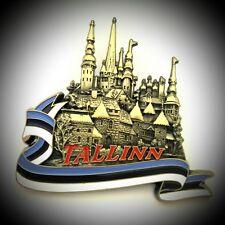 Fridge Big Magnet Metal Estonia Tallinn Travel Souvenir Collection Gift M551