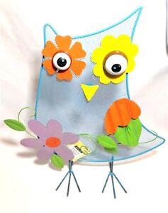 "Ashland Whimsical Owl Garden Home Metal 3D Decor Wiggly Eyes 14""x17.5"" NEW"