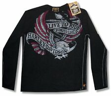 "HARLEY DAVIDSON & TRUNK LTD DESIGNER ""LIVE TO RIDE"" HENLEY - NWT SMALL"