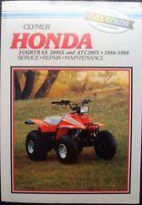 Honda Fourtrax 200sx & Atc200x 1986-1988 servicio reparación Manual De Mantenimiento