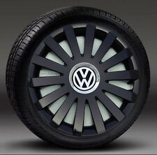 "Full Set 15"" Black  wheel trims  to fit Vw Transp.T4,Golf,Touran,Polo,Caddy"