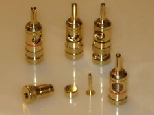 (2) Pair 24K GOLD PLATED Heavy Duty BANANA PLUGS NEW US Seller
