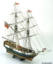 "Classic, Authentic Wooden Model Ship Kit by Mamoli: the ""Portsmouth"""