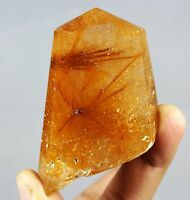 123g Rare Natural Clear Beautiful Gold Sun Rutilated QUARTZ Crystal Healing