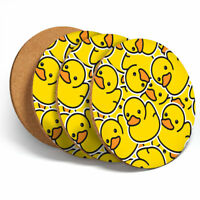 4 Set - Yellow Rubber Ducks Funny Coasters - Kitchen Drinks Coaster Gift #2078