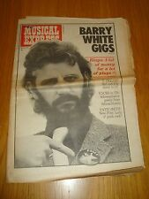 NME 1975 APRIL 12 BARRY WHITE RINGO STARR FACES PATTI SMITH DON MCLEAN QUO