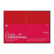 50 Doppelkarten 10,5x14,8cm + 50 Umschläge rot grün Xmas DoCrafts PMA 151904