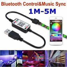 1M-5M 5050 USB Powered  RGB LED Strip Light Wireless Bluetooth Control Lights AU