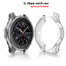 For Samsung Galaxy Watch 46mm Shatterproof Soft TPU Protective Case Cover Frame