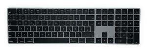Apple Magic Keyboard mit Ziffernblock QWERTZ Deutsch Space Grau Grey