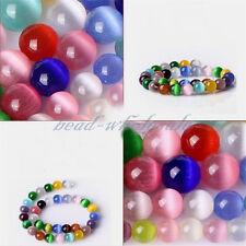 4/6/8/10MM Cateye Perlen Glasperlen Katzenaugen SPACER Beads zum Basteln