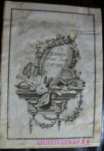 EXL040 - Ex-Libris François Thomas Jaume - Fein 18. Jhd.