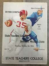 SOUTHEAST MISSOURI @ STATE TEACHERS (MO) COLLEGE FOOTBALL PROGRAM - 1954 - EX+