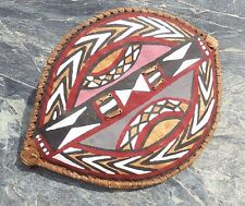 VINTAGE EAST AFRICAN TRIBAL ART MASAI PAINTED HIDE SHIELD NO SPEAR CLUB AXE MASK