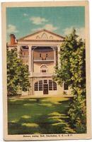 Historic Ashley Hall Charleston SC Vintage Postcard South Carolina