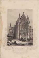 Artist Hall/Engraver Bibby 1890s London Publishing Art Print Chapel of Vincennes