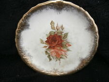 Antique Sevres Porcelain Plate Circa 1850 Flowers with Gold Trim