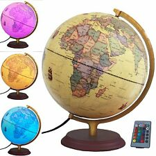 Illuminated World Globe Multi-colored Led Globe with Remote