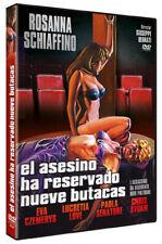 The Killer Reserved Nine Seats NEW PAL DVD Giuseppe Bennati Rosanna Schiaffino