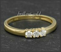 Brillant Damen Ring mit 0,30ct Diamanten in River D & Si, aus 585 Gold, Gelbgold