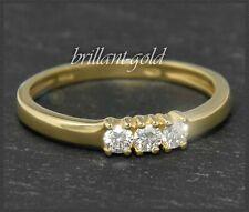 Brillant Damen Ring mit 0,30ct Diamanten in River D & Si, aus 585 Gold, Gelbgold