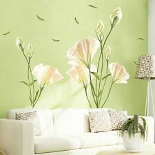 Greenish lily Flower Wall Poster Art Sticker Vinyl Decal Room Home Mural Decor