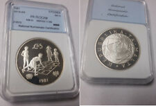 1981 Malta Large Silver 5 pounds- year of the Child