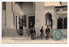 EXPOSITIONS Marseille expo coloniale ALGERIE Turcos devant le palais d' algerie