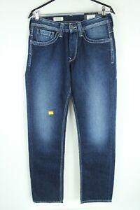 PEPE Jeans BNWT Blue Denim Mid Rise Regular Fit Straight Men Jeans Size 30/34
