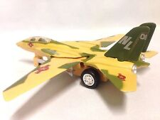 """F-14 Tomcat Aircraft U.S. Navy Military, 7"""" Diecast Pull Back To Go Toys Yellow"""