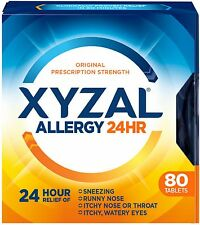 Xyzal 24 Hour Allergy Relief Tablets 80 ea (Pack of 5)