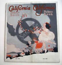 "1932 ""California Picture Book"" Advertising ""Santa Fe"" Rail Road  *"