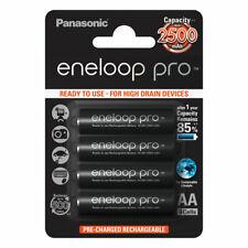 4x Panasonic Eneloop PRO AA HR06 2500mAh NiMH Rechargeable Batteries Ready 2 Use