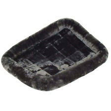 "Midwest Deluxe Quiet Time Pet Bed Dogs & Cats Plush Gray 36"" x 23"" New"