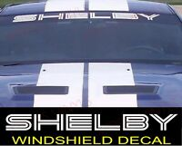 SHELBY Ford Mustang GT Windshield Vinyl Decal Sticker Custom Vehicle Logo WHITE