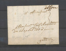 1706 Lettre marque manus. Iper (Ypres), occupation française Rare X4585