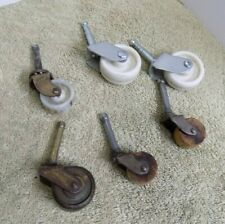 Vintage Wood & Plastic Wheel Caster Furniture Table Chair Dresser Replacement