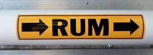 RUM Pipe marker vinyl sticker