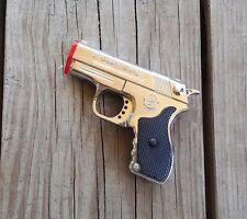 Gun Lighter Pistol Style Butane Jet Torch Lighter W/ Laser Pointer JI GUAN DENG