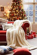 Decke  Kuscheldecke Kunstfell  Kunstfeldecke in weiß 150 x 200 cm Neu