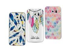 Samsung Galaxy S6 Edge - Pack de 3 Coques en gel souple avec motifs