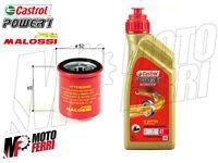MF1843 - 1 LT OLIO CASTROL 5W40 FILTRO OLIO MALOSSI MOTORE VESPA 125 250 300 4T