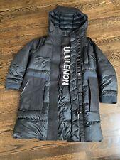 Lululemon Sz S. 4 Black Winter Chill Wool Parka Coat ($448) + Down -Waterproof