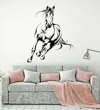 Vinyl Wall Decal Abstract Galloping Horse House Pet Animal Stickers (1915ig)